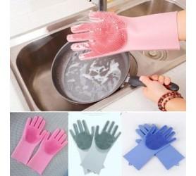 Перчатки хозяйственные силиконовые с шипами