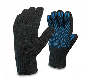 Перчатки хб с ПВХ  2-х слойные
