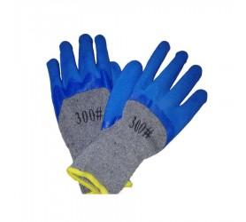 Перчатки #300 синие с х/б