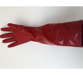 Перчатки красные хозяйственные с утеплением Long