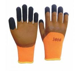 Перчатки #300 коричневые с черными пальцами