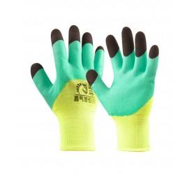 Перчатки синтетические с черными пальцами (каучук)